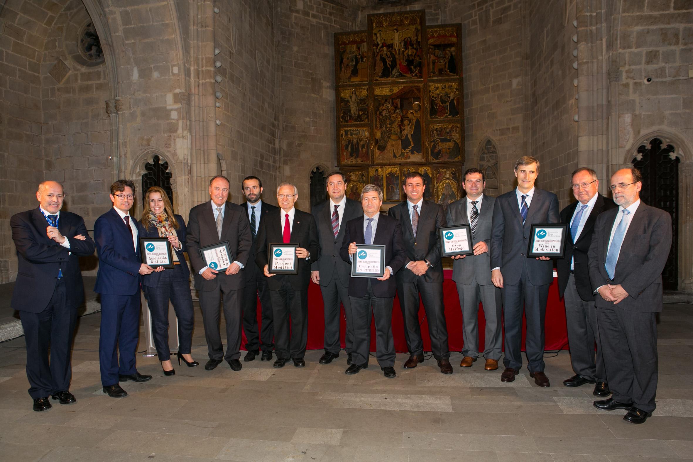 La Fundación Dieta Mediterránea celebra sus premios en colaboración con el Ayuntamiento de Barcelona